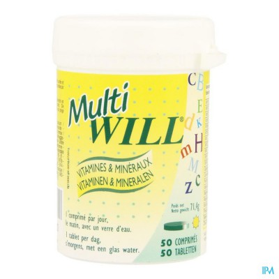 Multi Will Multivit + Mineralen Comp 50