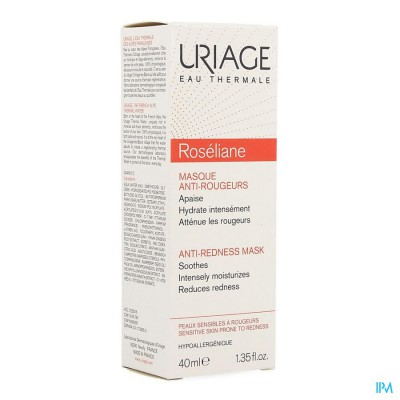 Uriage Roseliane Masker Verzachtend Tube 40ml