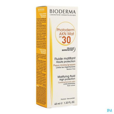 Bioderma Photoderm Akn Mat Ip30 Fluide 40ml