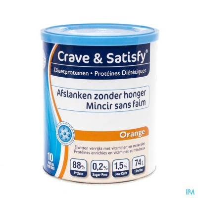 Crave & Satisfy Dieetproteinen Orange Pot 200g