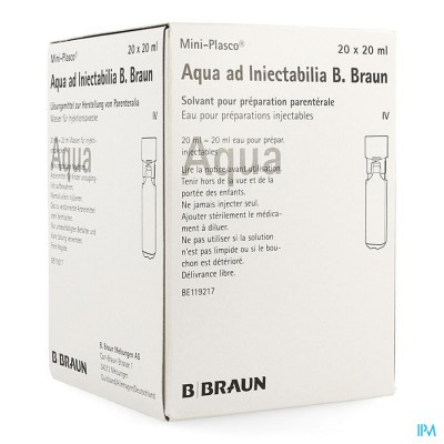 Mini Plasco Aqua Pro Inj Amp20x20ml