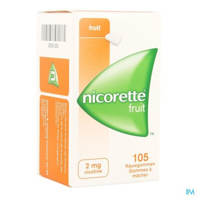 Nicorette Fruit Kauwgom 105x2mg