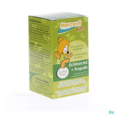 Mercevit Kids Echinacea&propolis Beertjes Fruit 50