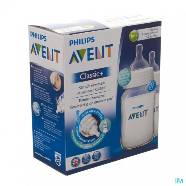 Avent Zuigfles Classic+ Pp Duo 2x260ml