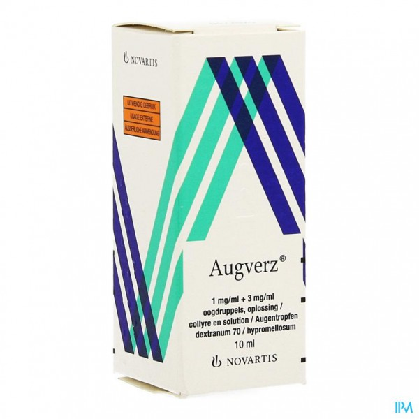 Augverz 1mg/ml + 3mg/ml Oogdruppels Opl 1 X 10ml